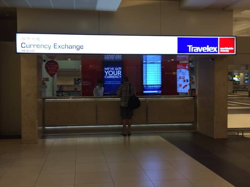 チャンギ空港ターミナル2-Travelex Currency Exchange Counters